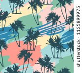 seamless tropical pattern with... | Shutterstock .eps vector #1125899975