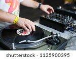 kiev 30 june 2018  club party...   Shutterstock . vector #1125900395