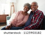 portrait of loving senior... | Shutterstock . vector #1125903182