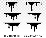 paint dripping. dripping liquid.... | Shutterstock .eps vector #1125919442