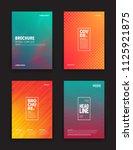 set of tech vector different... | Shutterstock .eps vector #1125921875