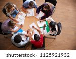 overhead shot of high school... | Shutterstock . vector #1125921932