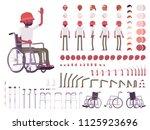 male black wheelchair user... | Shutterstock .eps vector #1125923696