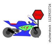 motercycle vector showing... | Shutterstock .eps vector #1125923726