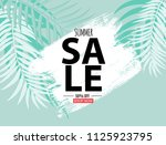 abstract summer sale background ... | Shutterstock . vector #1125923795