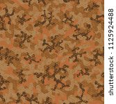 camouflage seamless pattern.... | Shutterstock .eps vector #1125924488