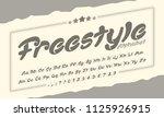 freestyle font family | Shutterstock .eps vector #1125926915