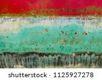 background of rusty  red  blue  ... | Shutterstock . vector #1125927278