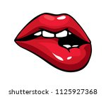 vector illustration of sexy... | Shutterstock .eps vector #1125927368