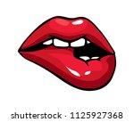 vector illustration of sexy...   Shutterstock .eps vector #1125927368