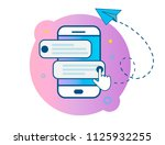 mobile phone. chat ... | Shutterstock .eps vector #1125932255