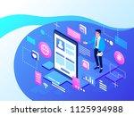 social media concept for... | Shutterstock .eps vector #1125934988