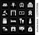 set of 16 icons such as purses  ...
