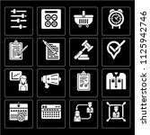 set of 16 icons such as boss ...