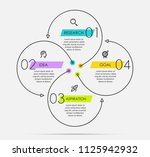 infographic template with... | Shutterstock .eps vector #1125942932