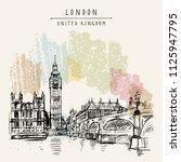 london  england  united kingdom....   Shutterstock .eps vector #1125947795