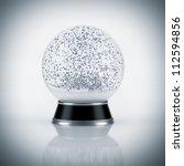 snow globe on white background | Shutterstock . vector #112594856