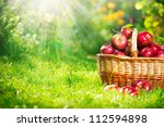 Organic Apples In The Basket...