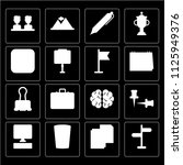set of 16 icons such as pointer ...