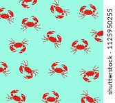 crabs on blue background....   Shutterstock .eps vector #1125950255