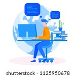 professional engineer... | Shutterstock .eps vector #1125950678
