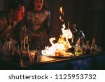 explosion during the experiment.... | Shutterstock . vector #1125953732