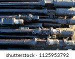oil drill pipe. rusty drill... | Shutterstock . vector #1125953792