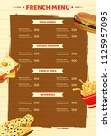 french menu card template or... | Shutterstock .eps vector #1125957095