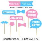 gender reveal party photo booth ... | Shutterstock .eps vector #1125961772