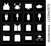 set of 16 icons such as terrace ...