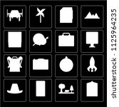 set of 16 icons such as hotel ...