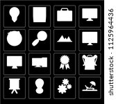 set of 16 icons such as hammock ...