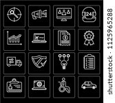 set of 16 icons such as car ... | Shutterstock .eps vector #1125965288