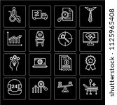 set of 16 icons such as... | Shutterstock .eps vector #1125965408