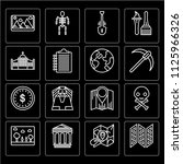 set of 16 icons such as trifold ...