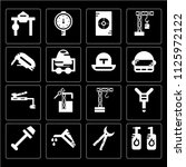 set of 16 icons such as barrel  ...