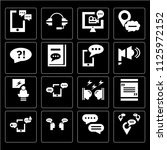 set of 16 icons such as... | Shutterstock .eps vector #1125972152