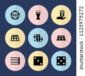 set of 9 play filled icons such ... | Shutterstock .eps vector #1125975272
