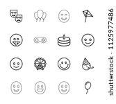 joy icon. collection of 16 joy... | Shutterstock .eps vector #1125977486