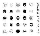emotion icon. collection of 25... | Shutterstock .eps vector #1125977606