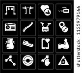 set of 16 icons such as pills ...