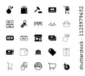 sale icon. collection of 25... | Shutterstock .eps vector #1125979652