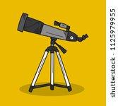telescope illustration on color ... | Shutterstock .eps vector #1125979955
