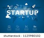 creative infographic of... | Shutterstock .eps vector #1125980102