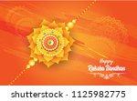 raksha bandhan festival... | Shutterstock .eps vector #1125982775