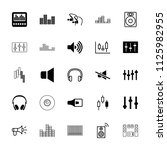 volume icon. collection of 25... | Shutterstock .eps vector #1125982955