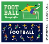 football soccer player set of ... | Shutterstock .eps vector #1125987218