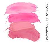 vector lipstick smears isolated ...   Shutterstock .eps vector #1125988232