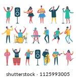 vector background in a flat... | Shutterstock .eps vector #1125993005