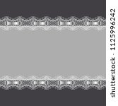 horizontal frame decorated with ...   Shutterstock . vector #1125996242